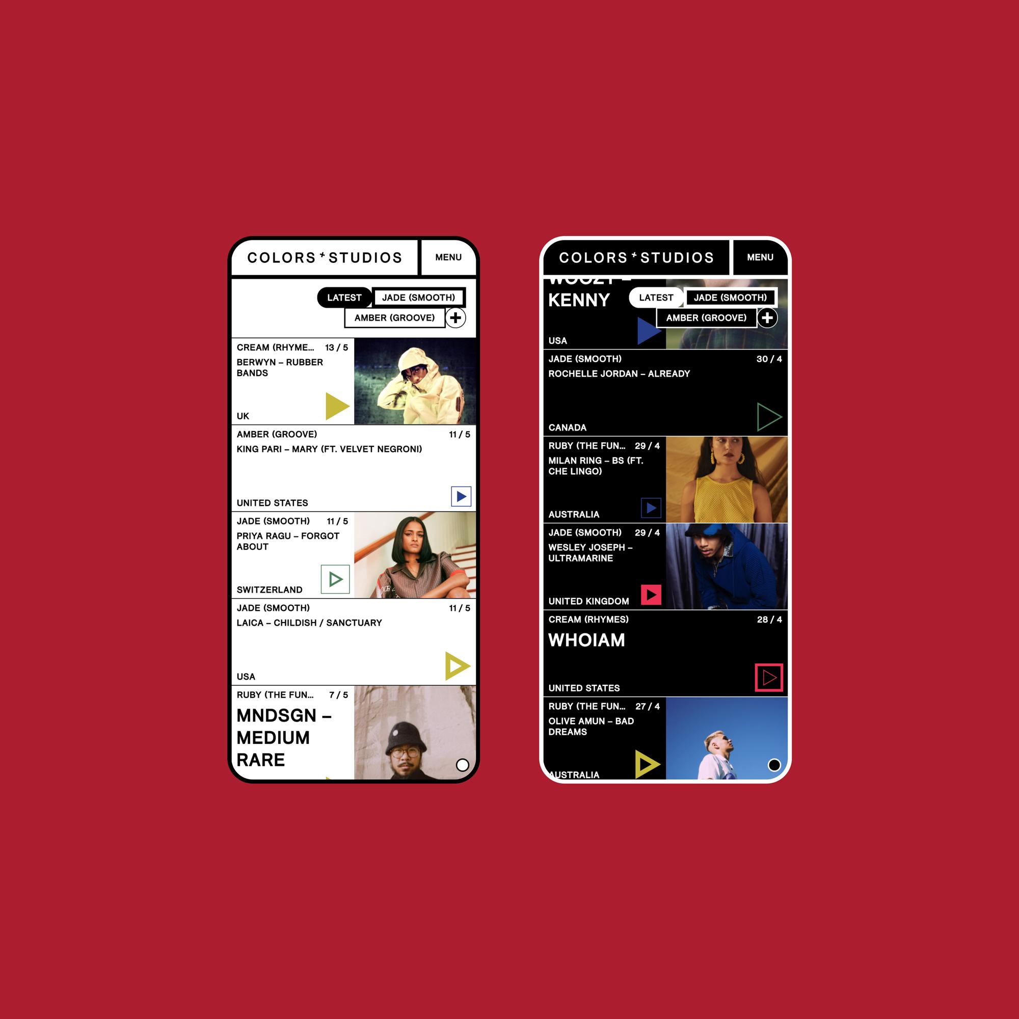 COLORS - Website Listen Moblie