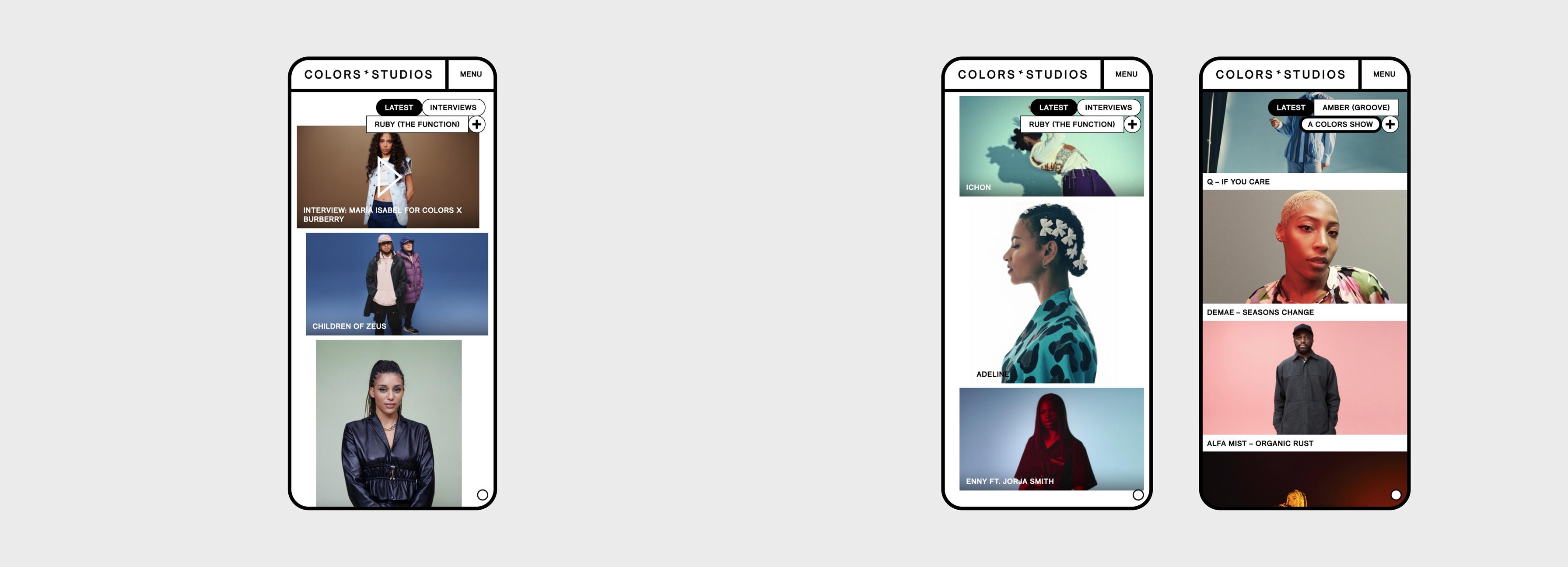 COLORS - Website Mobile