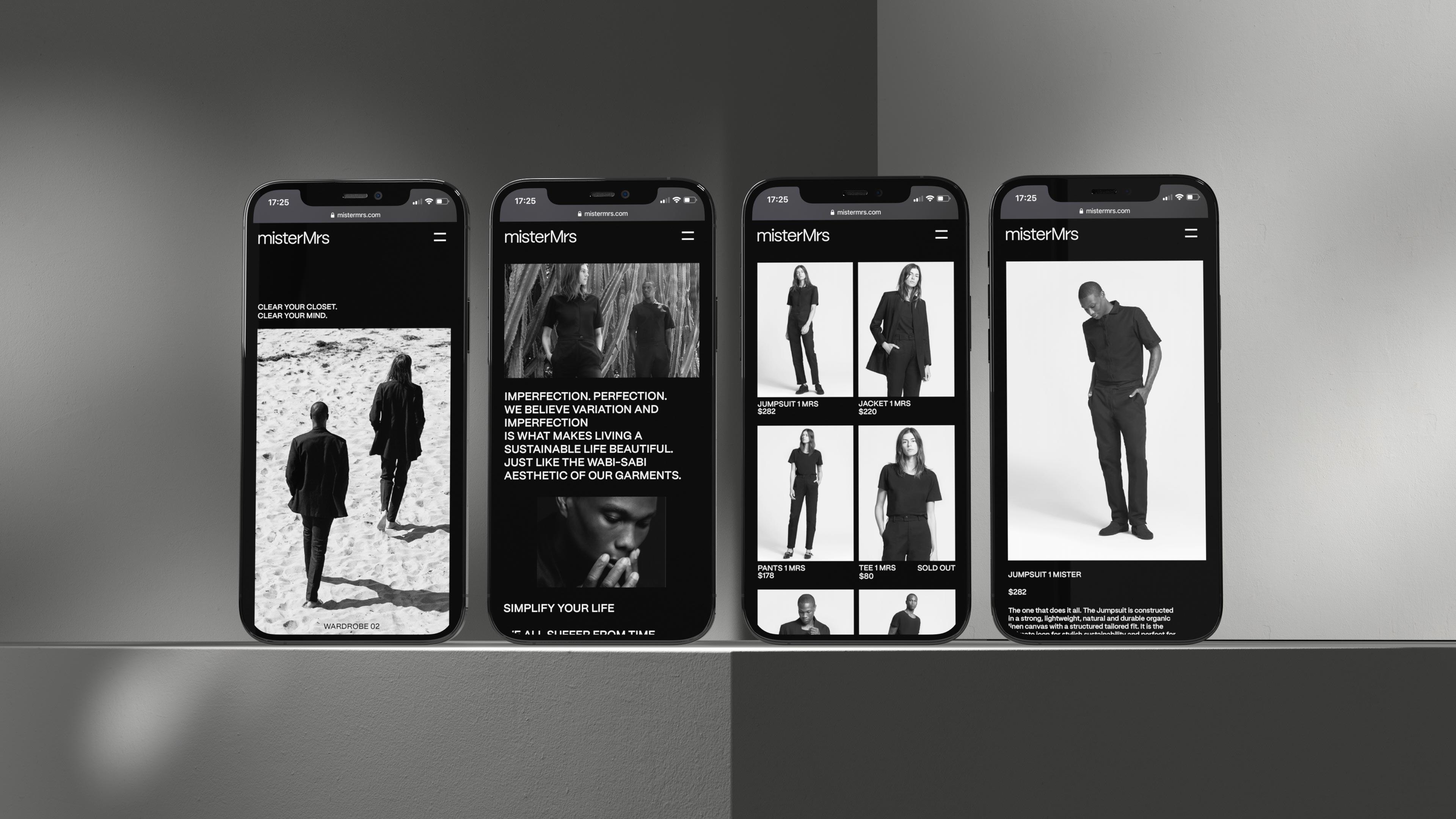 misterMrs - Website Shop Mobile