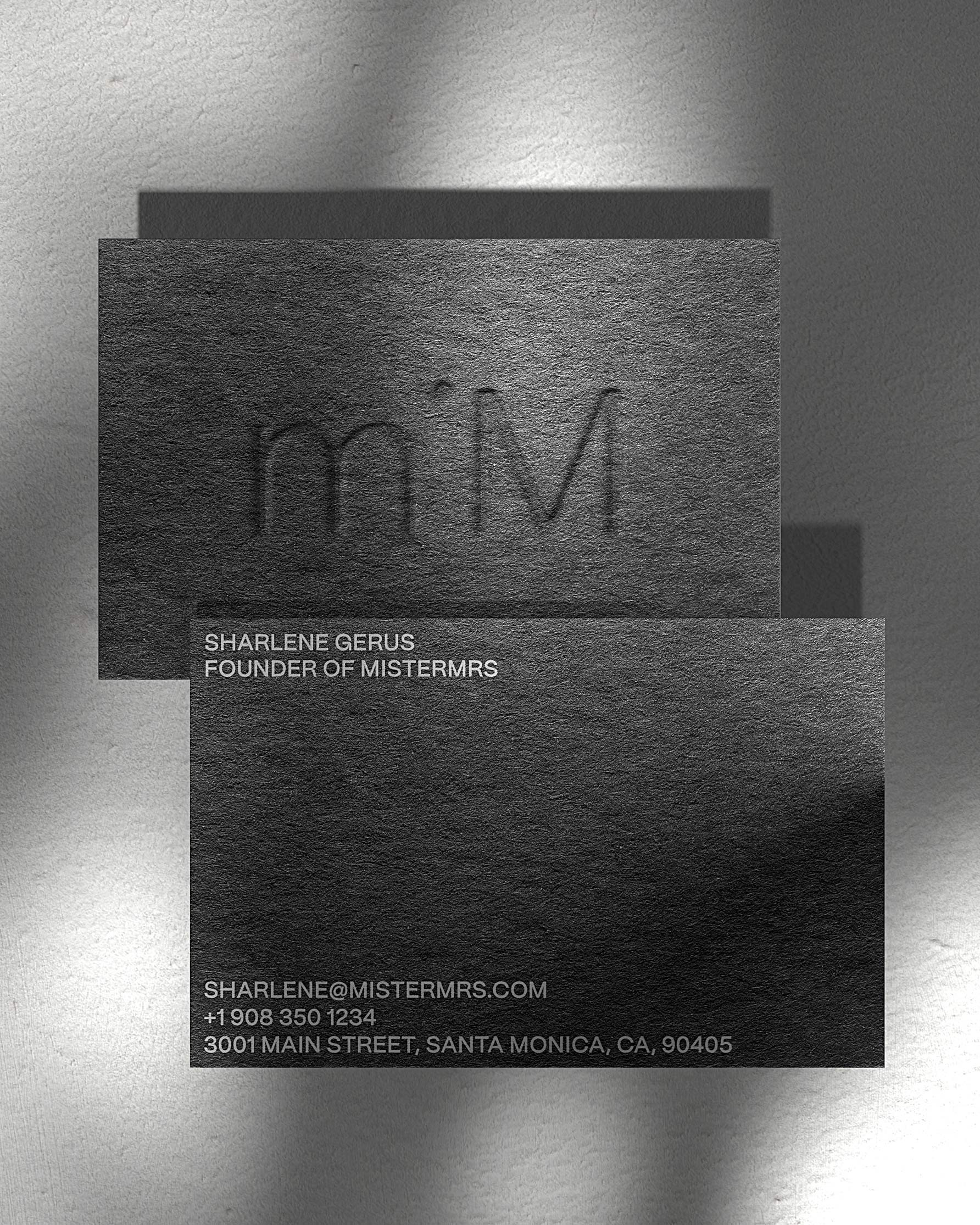 misterMrs - Brand Business Cards