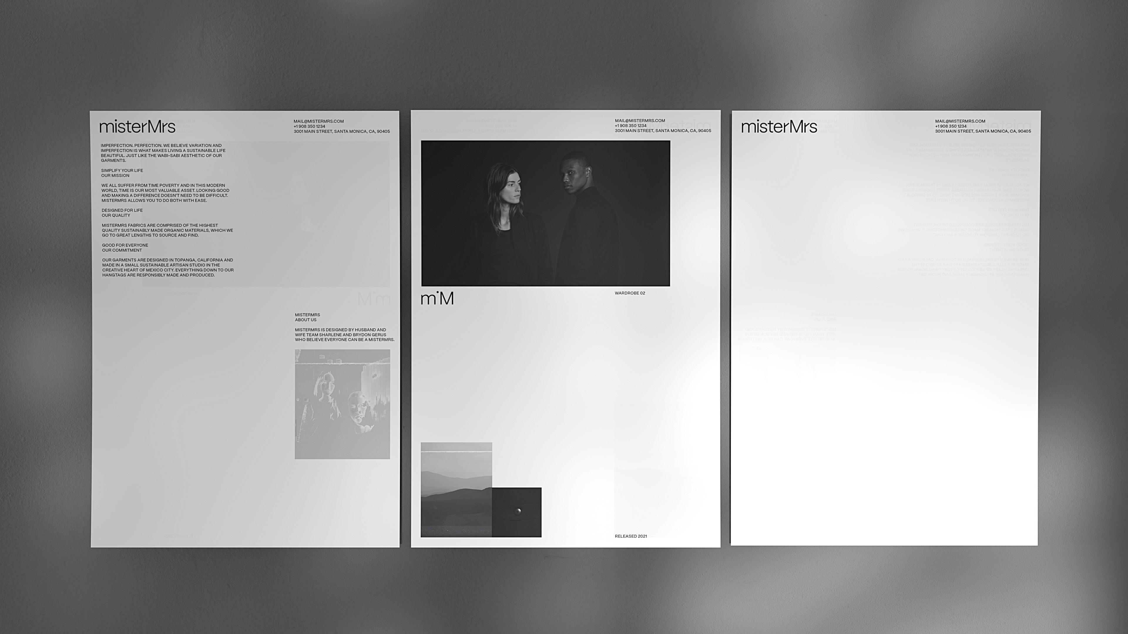 misterMrs - Brand Stationery