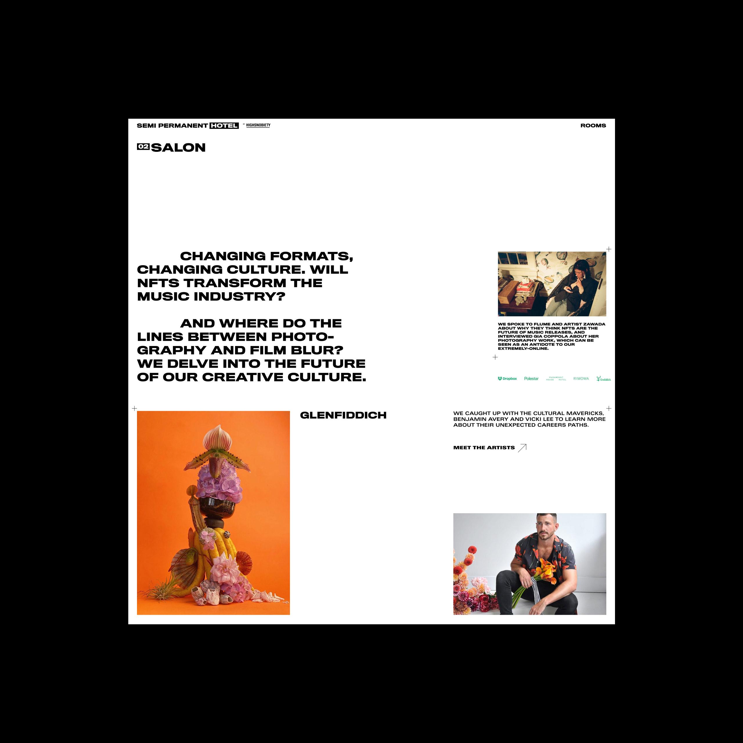 Semi Permanent Hotel - Website Artists