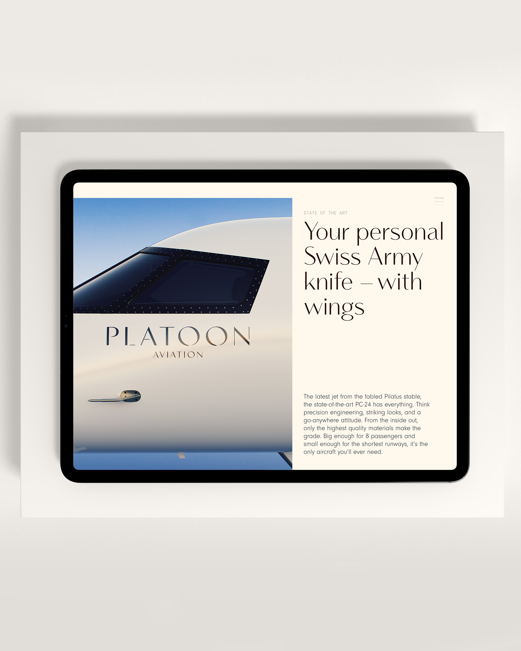 Platoon - Website Tablet