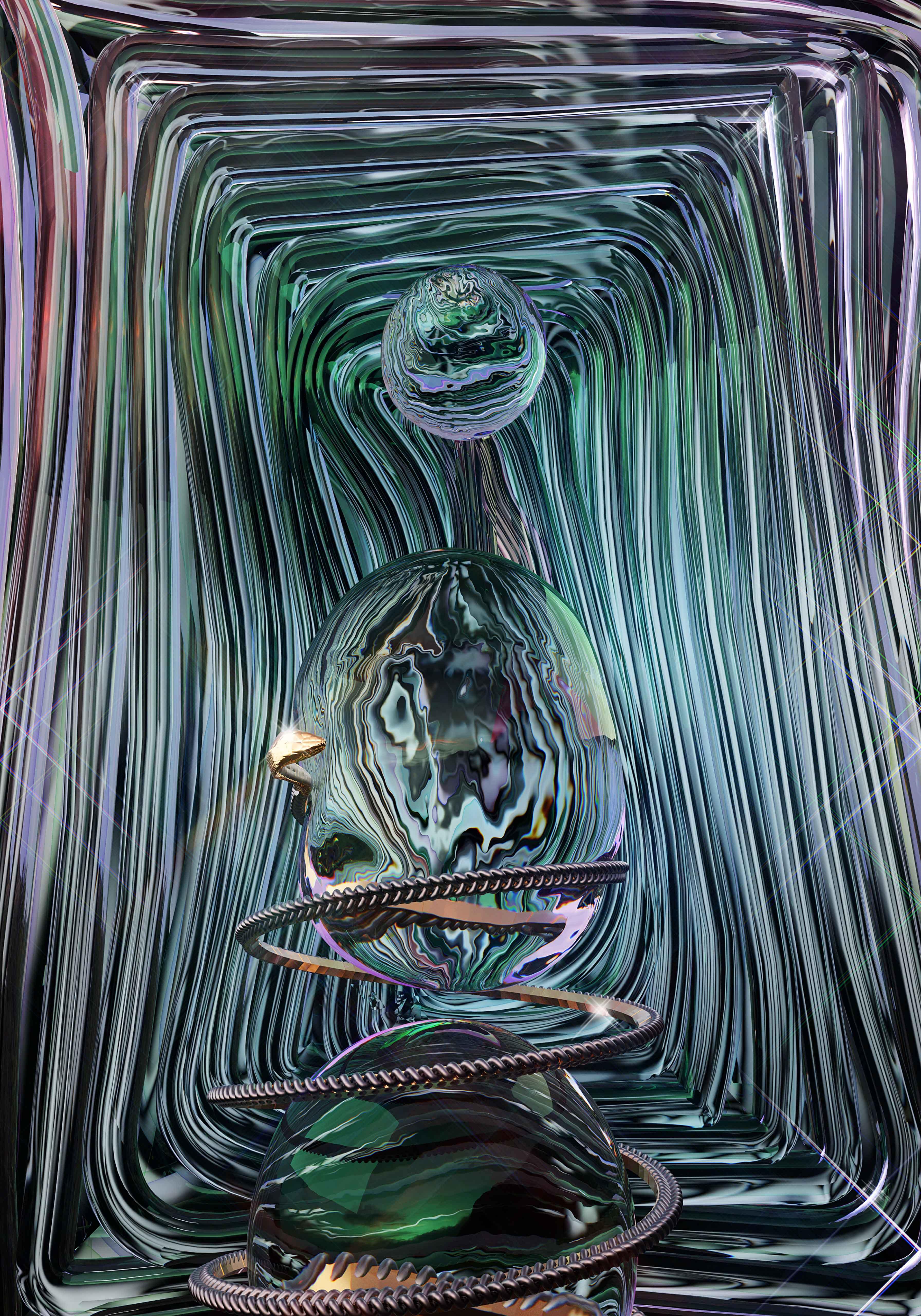 Precog Magazine - Artwork Snake