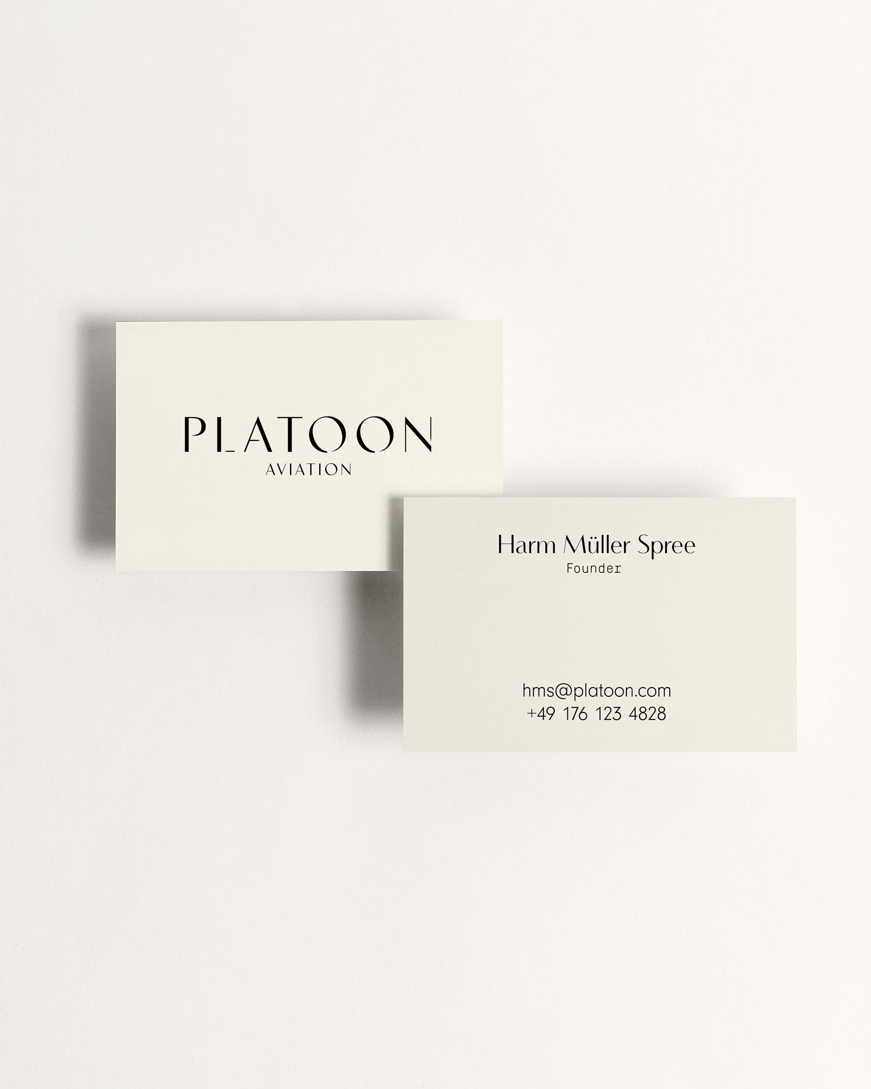 Platoon - Brand Business Cards