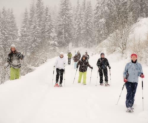 Wanderung in Winterlandschaft