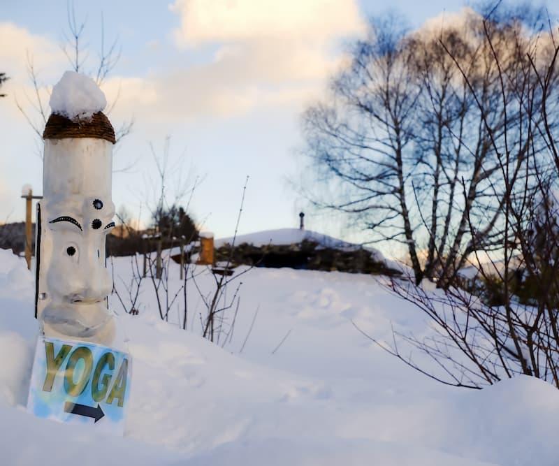 Winterlandschaft an einem schönen Tag