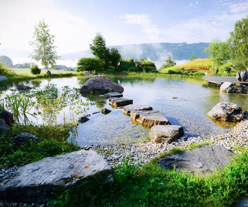 Teich an der Erdhügeljurte