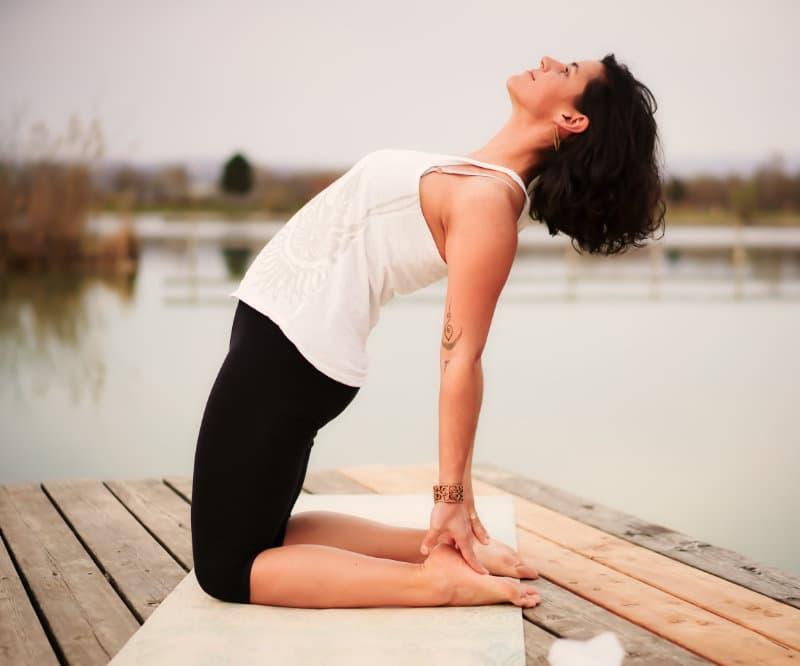 Yoga Übung - Kamel