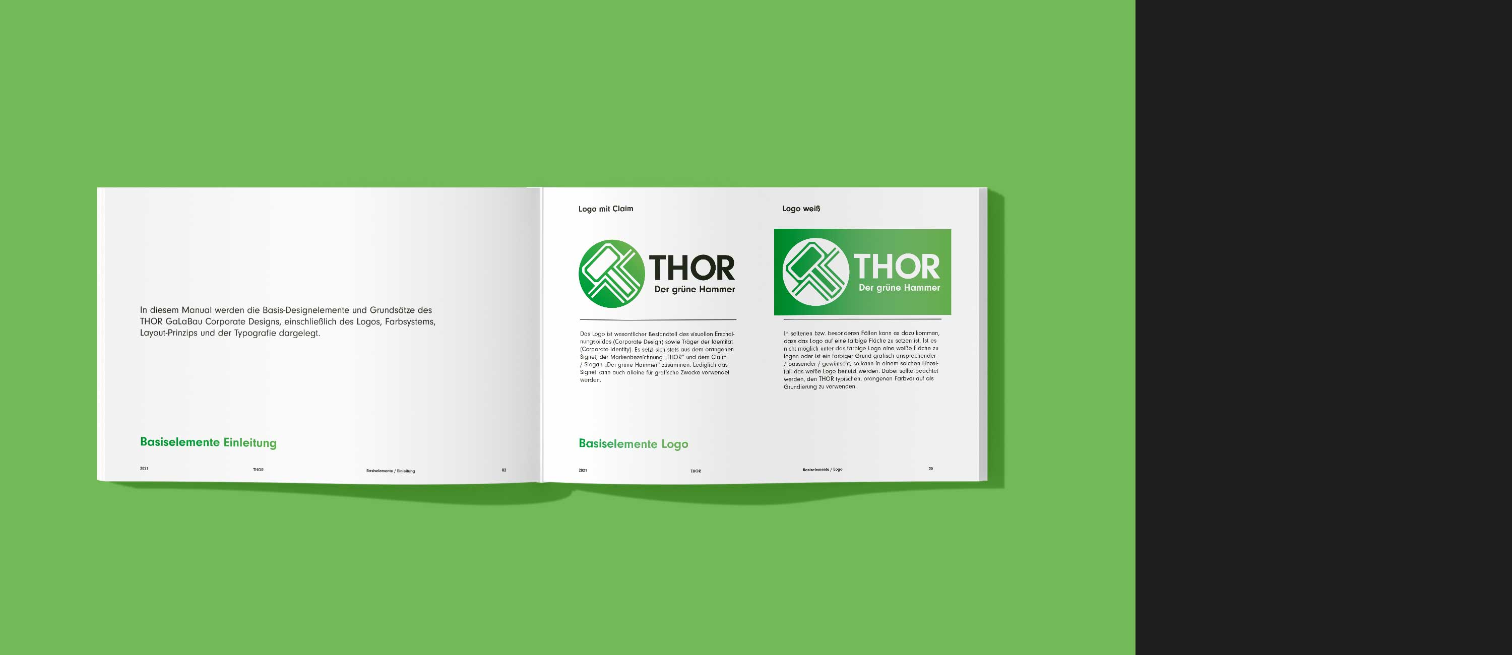 kreativbox - Corporate Design Manual - THOR GaLaBau