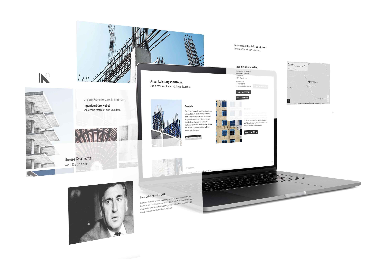 kreativbox - Werbeagentur Aschaffenburg - Webdesign - Ingenieurbüro Nebel Mespelbrunn