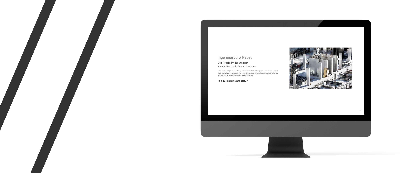 kreativbox - Werbeagentur Elsenfeld - Website - Homepage - Ingenieurbüro Nebel Mespelbrunn