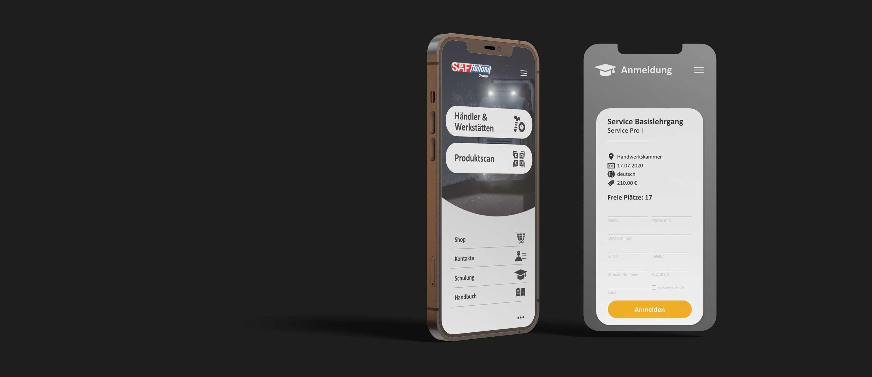 kreativbox - Marketingagentur Aschaffenburg - App-Design - User Experience - SAF-HOLLAND