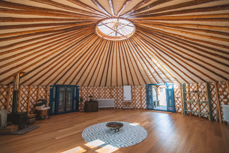 Interior of Mongolian Yurt