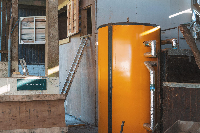 Sustainable biomass boiler
