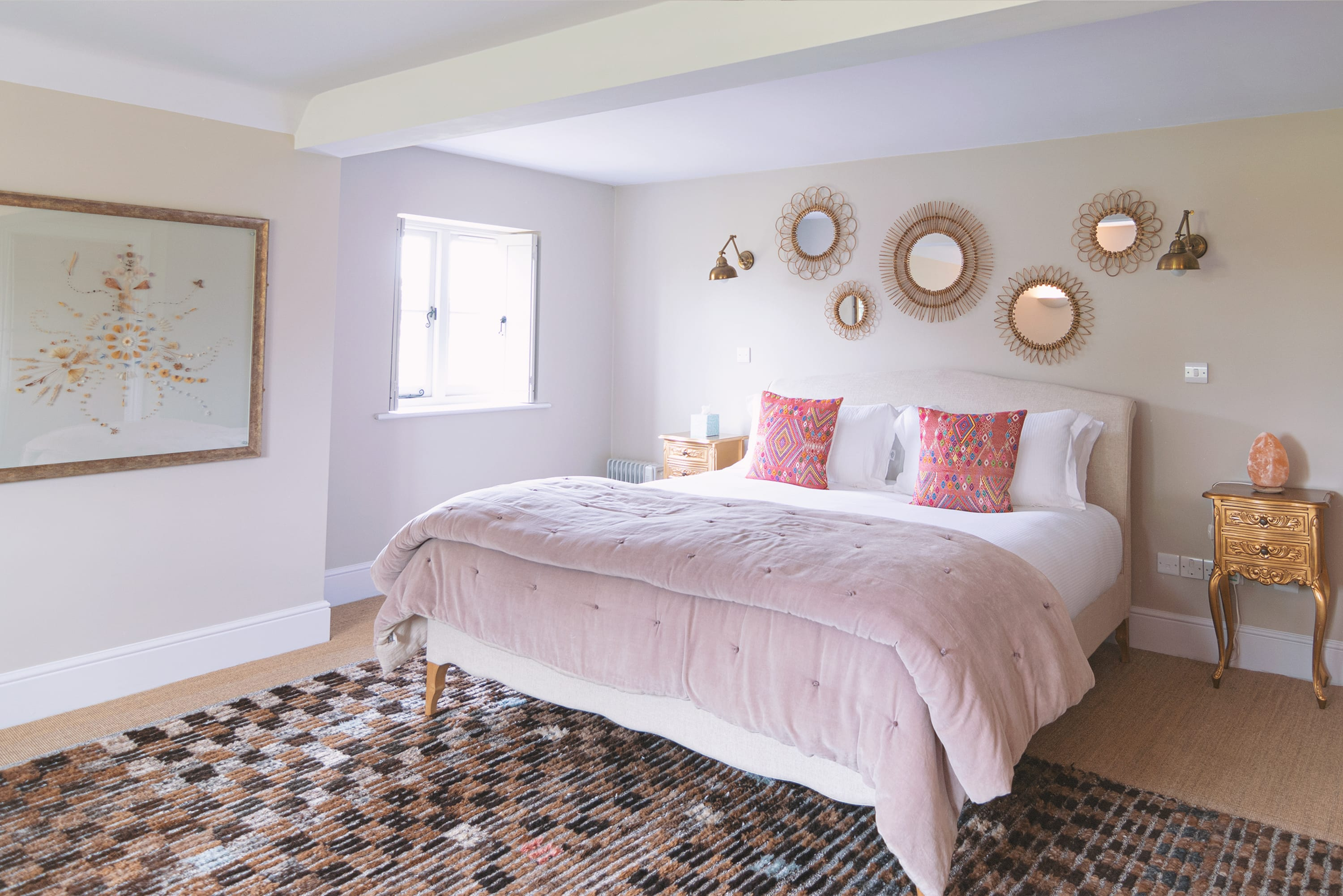 Master bedroom in the farmhouse
