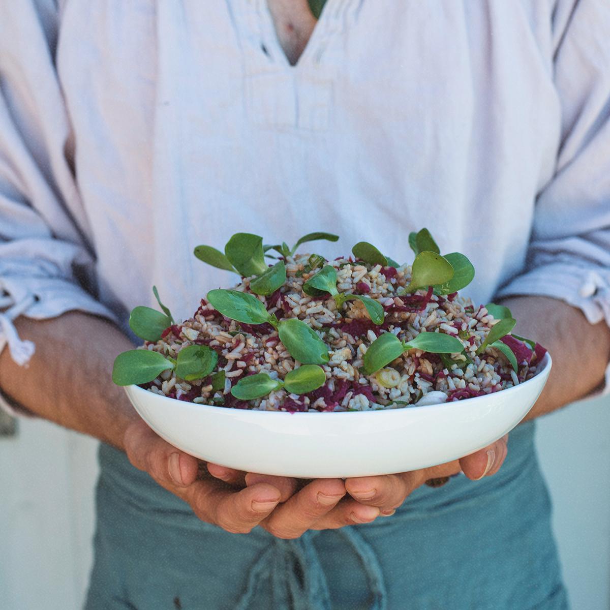 Colourful salad bowl