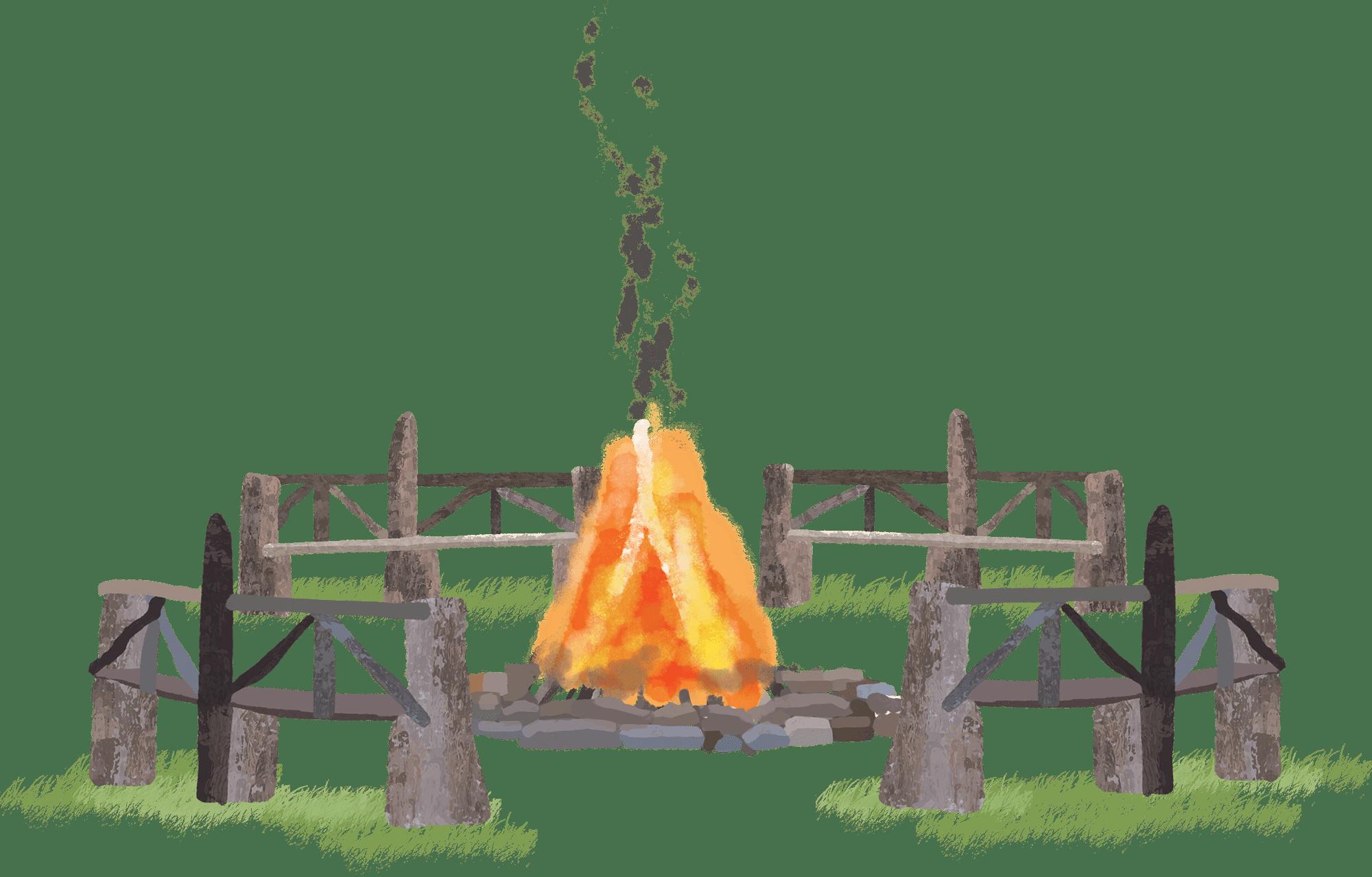 Illustration of fire pit