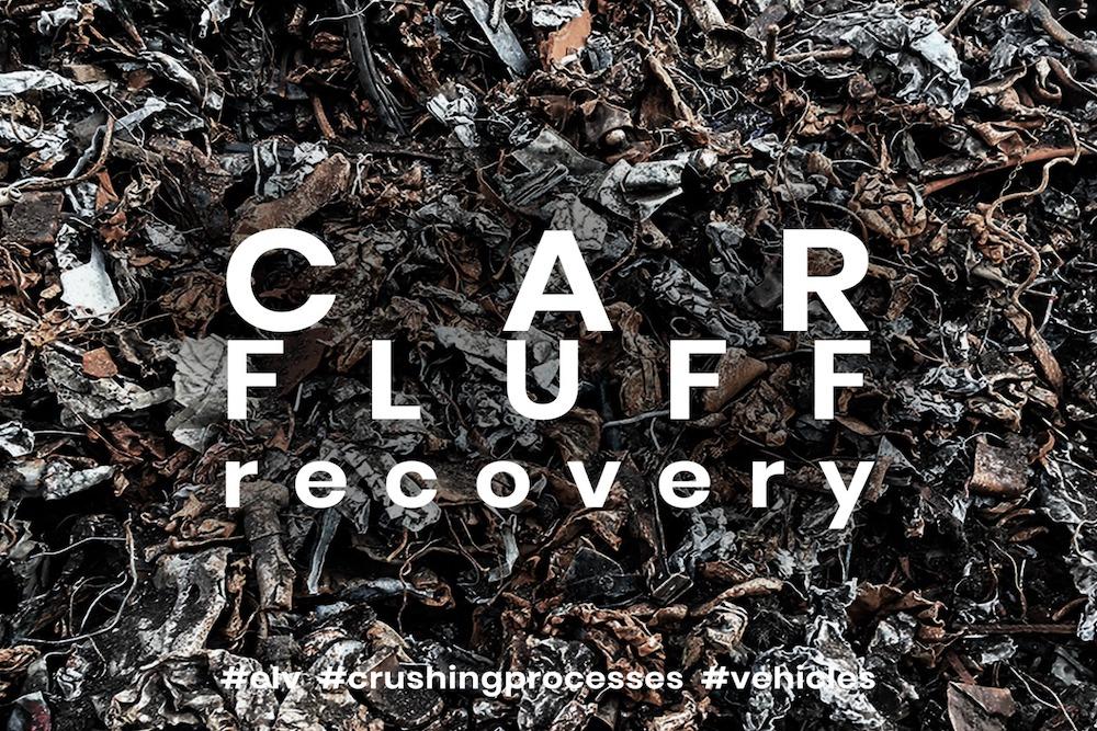Trituração de fluff de automóveis e resíduos