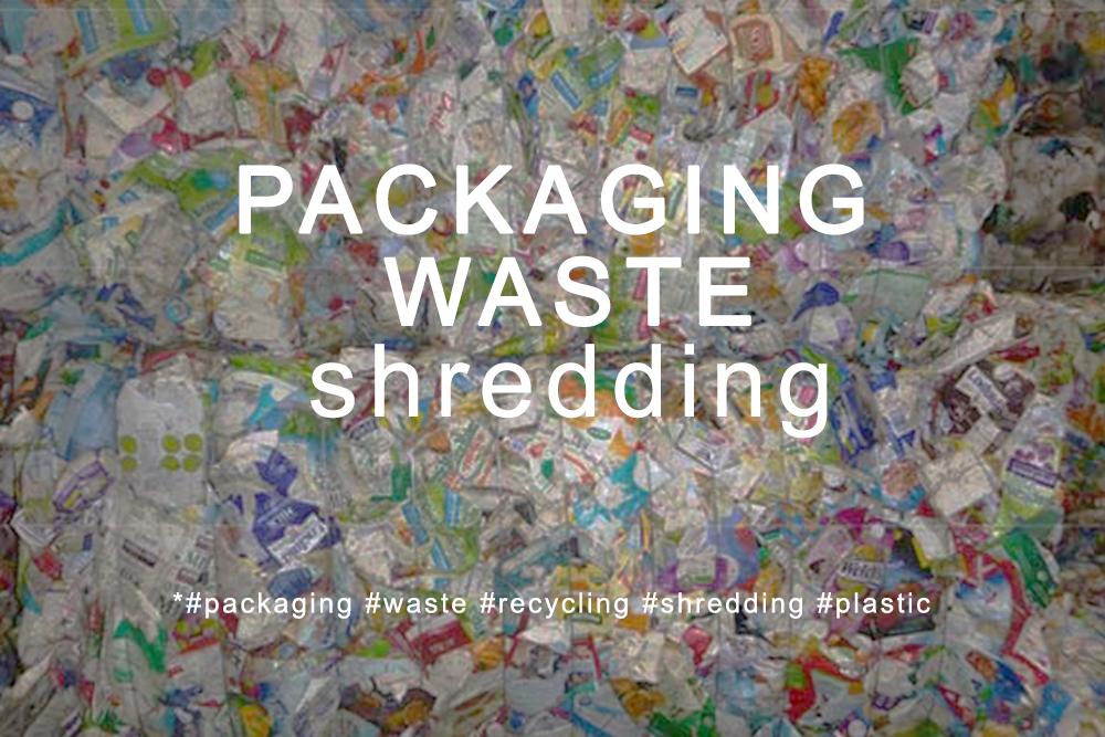 Trituração para embalagens cartonadas e embalagens plásticas