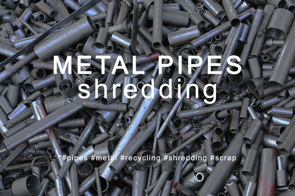 Trituração de tubos metálicos