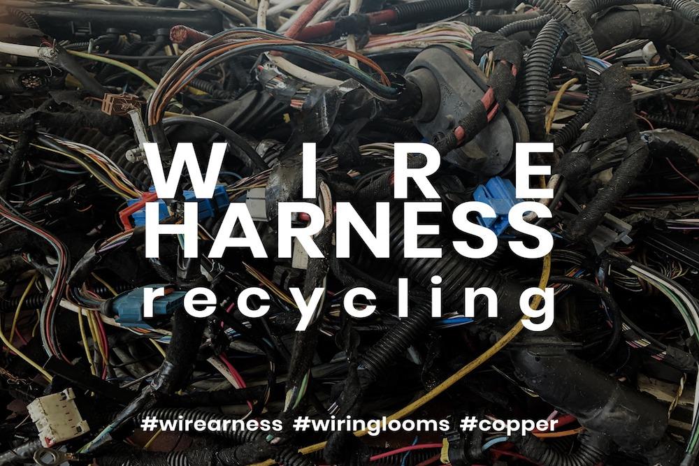 Kábelköteg -újrahasznosítás, a bontásra és újrafeldolgozásra szánt járművek jelentős mennyiségű elektromos vezetéket tartalmaznak