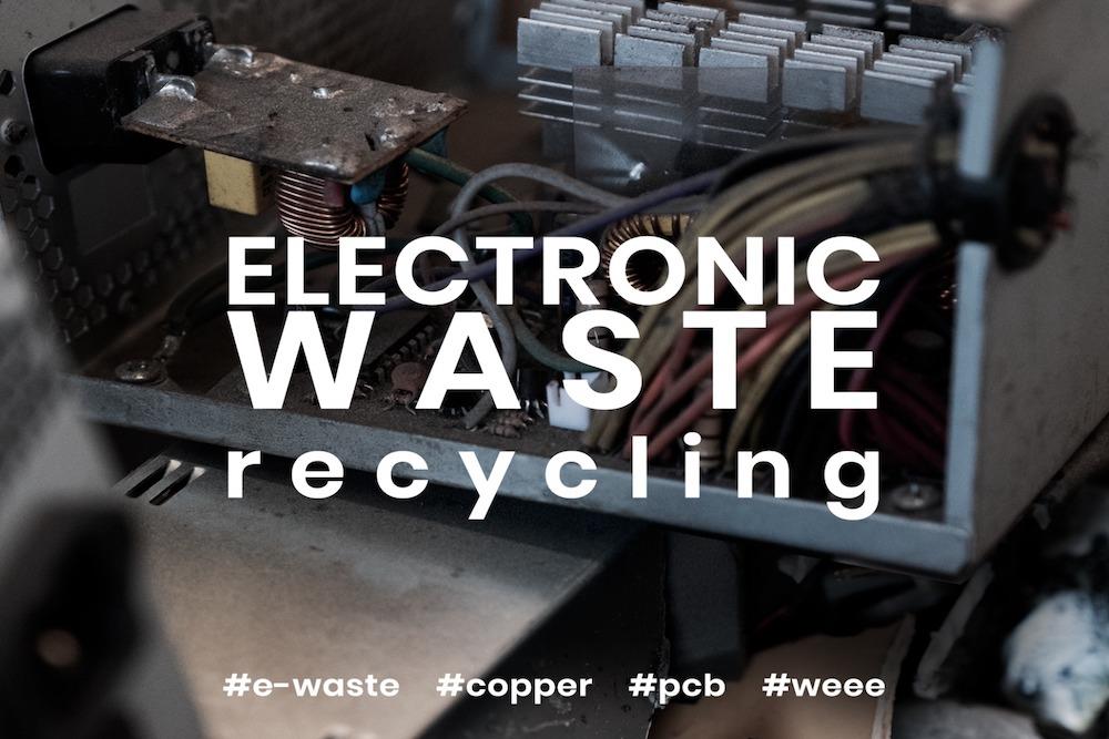 Elektromos elektronikus hulladék aprítás, E-törmelék aprító, WEEE feldolgozás
