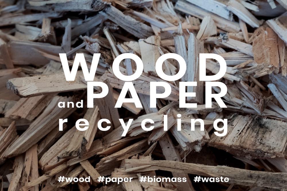 Fa Hulladék aprítása és újrahasznosítása fa, papír, karton