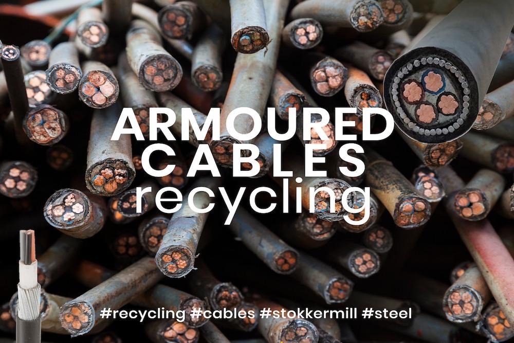 Páncélozott kábelek aprítás újrahasznosítása sokkal nehezebb a páncélok számára, ami lehetetlenné teszi a hagyományos kábel -újrahasznosító berendezések használatával történő feldolgozást