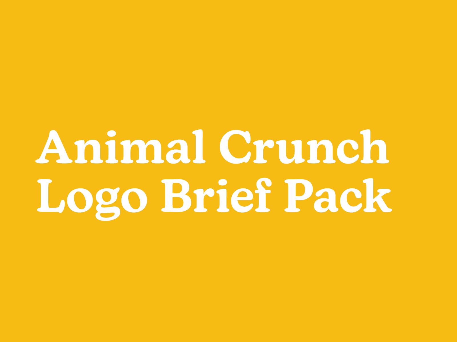 Animal Crunch Logo Brief Pack