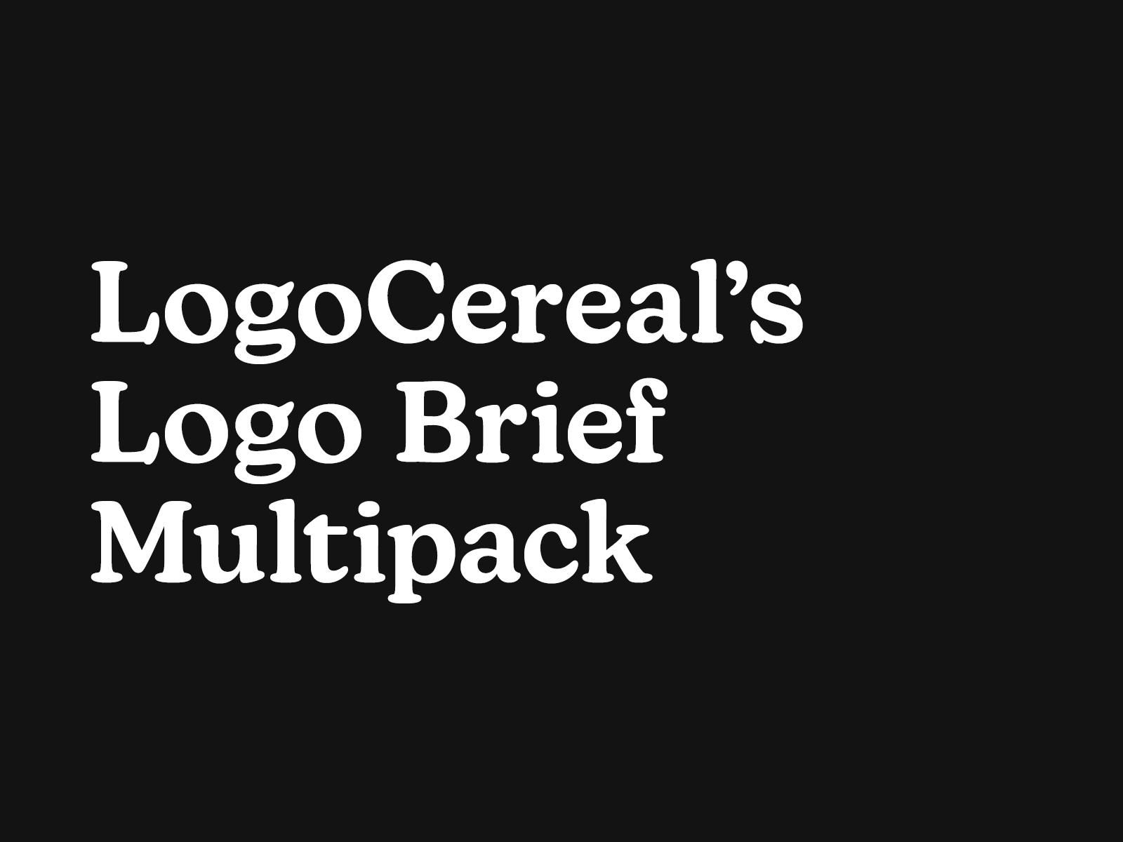 LogoCereal's Logo Brief Multipack