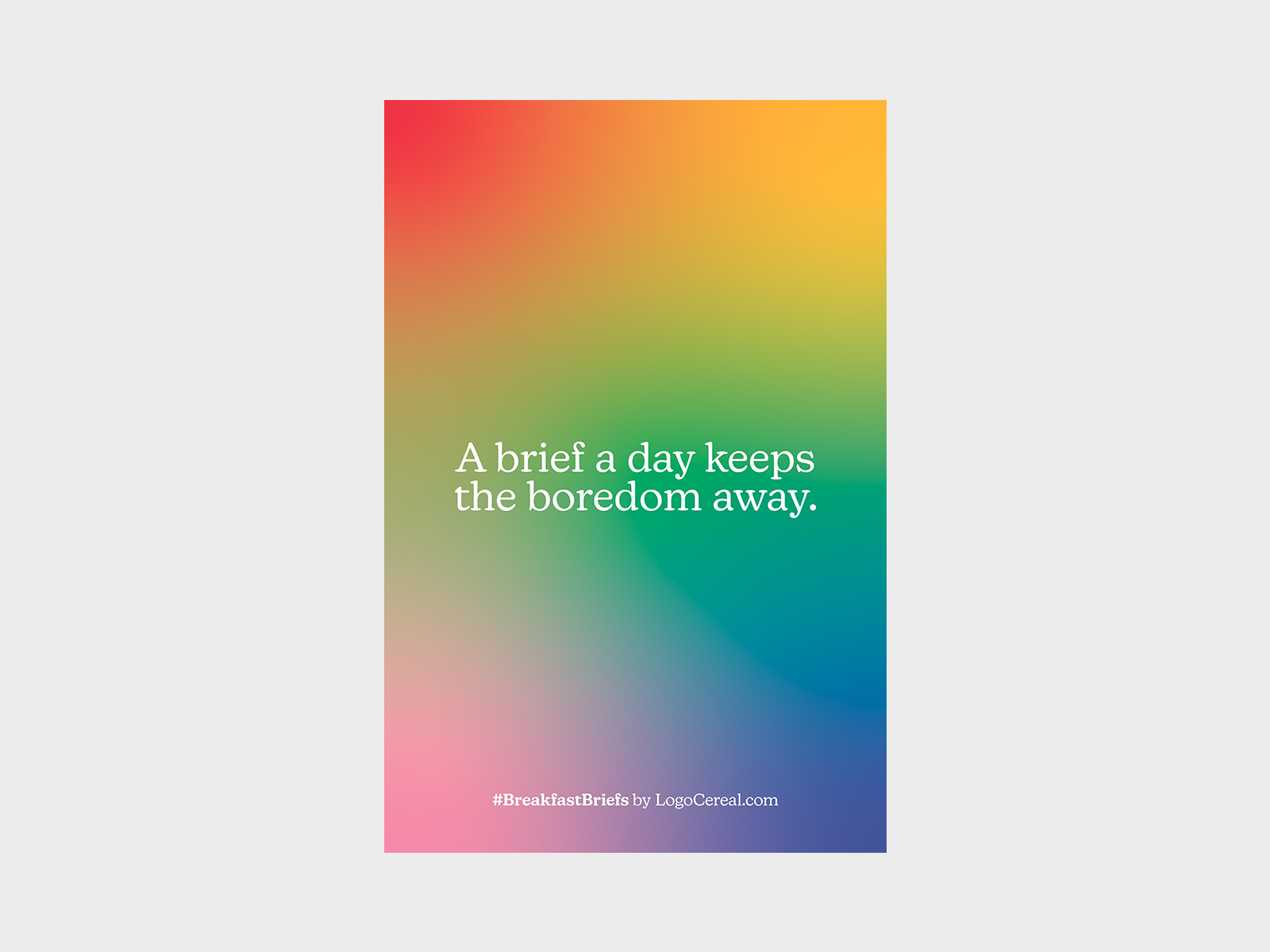 A brief a day Poster