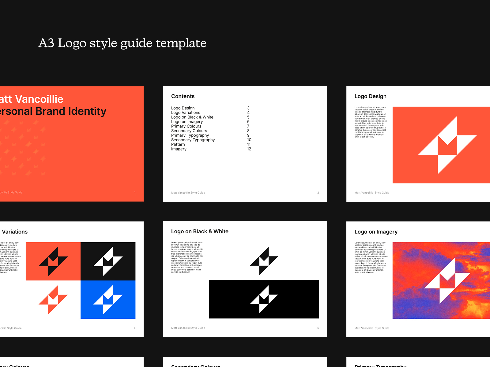 A3 Logo Style Guide Template