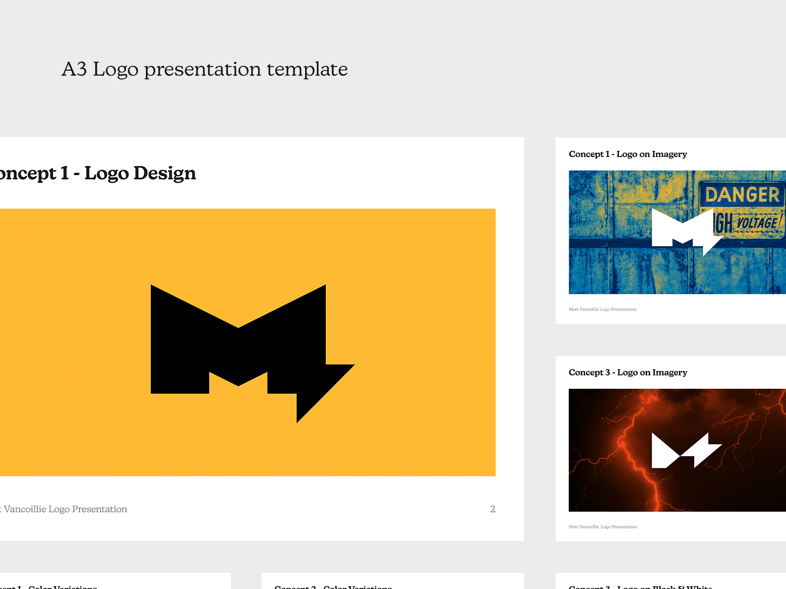A3 Logo Presentation Template (Free)