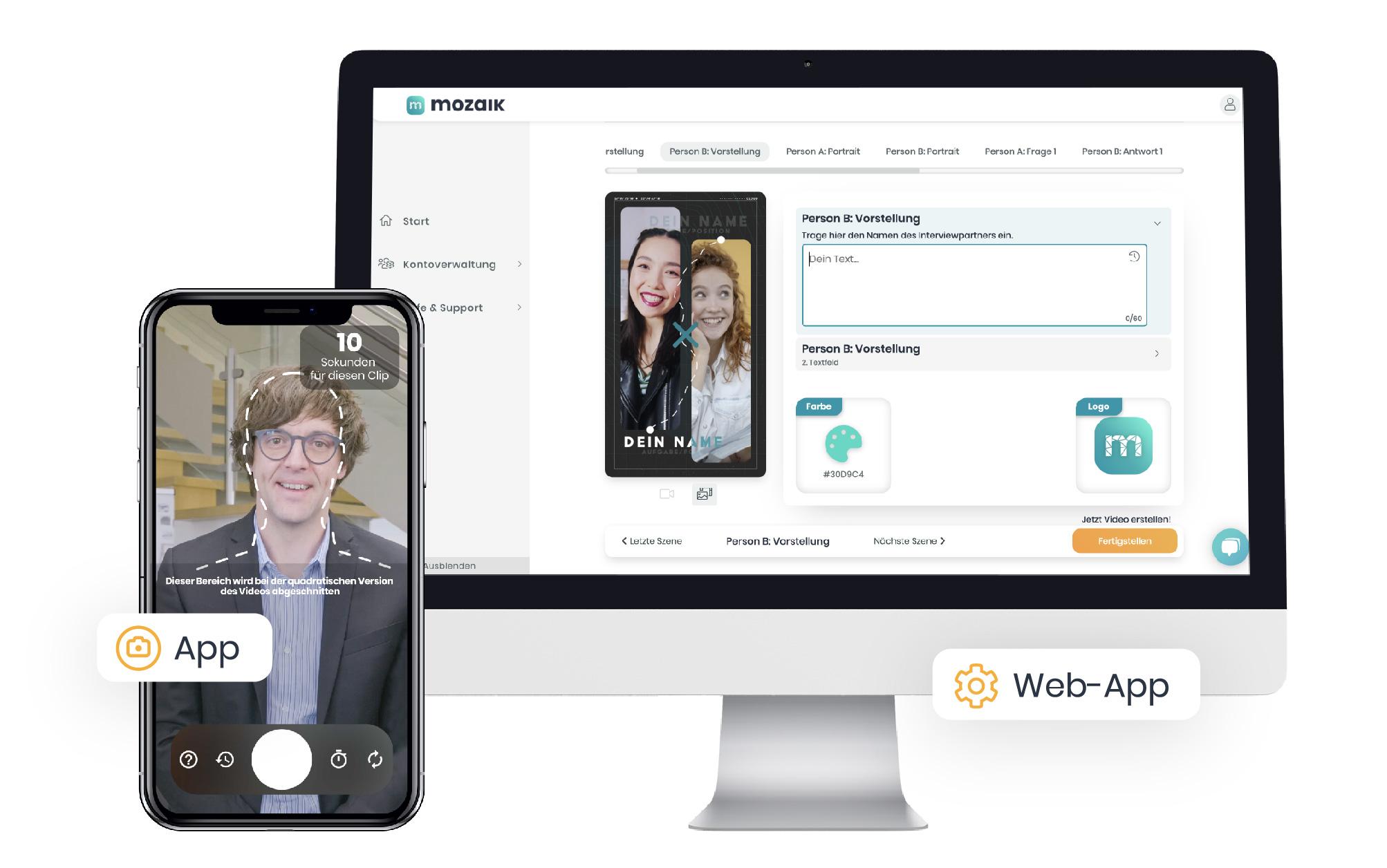 Mozaik App und Web-App - unkompliziert von verschiedenen Geräten aus an einem Videoprojekt arbeiten