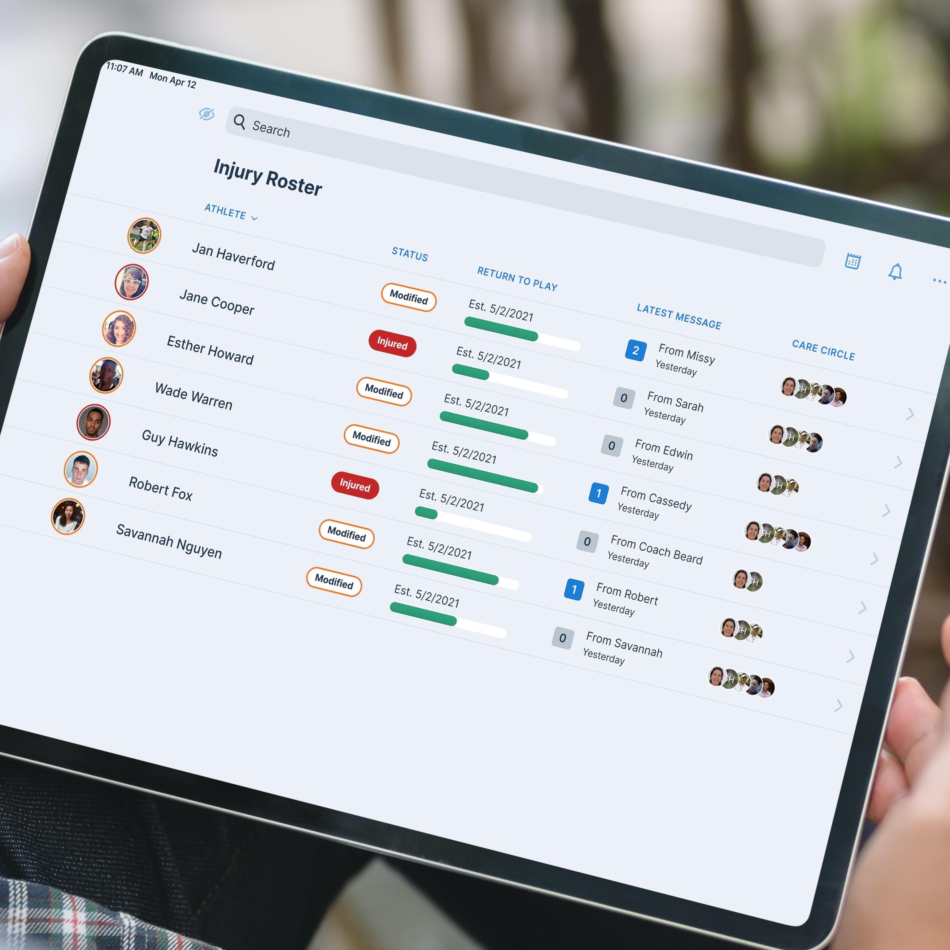 iPad with Veld interface