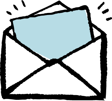 Email newsletter in an envelope