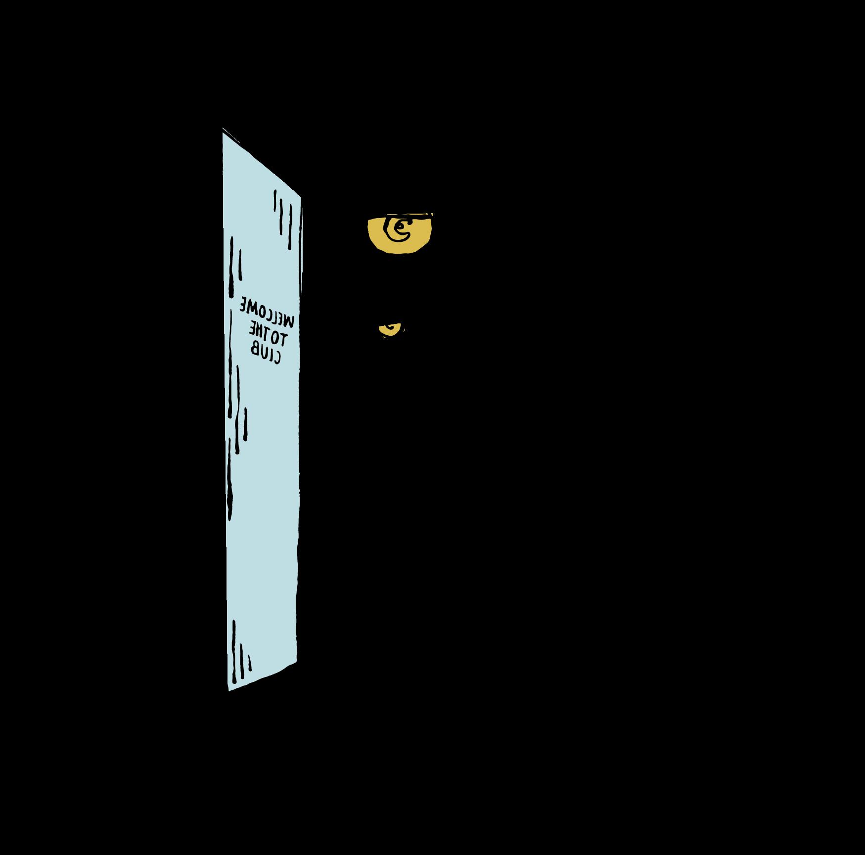 Welcome to the club door open