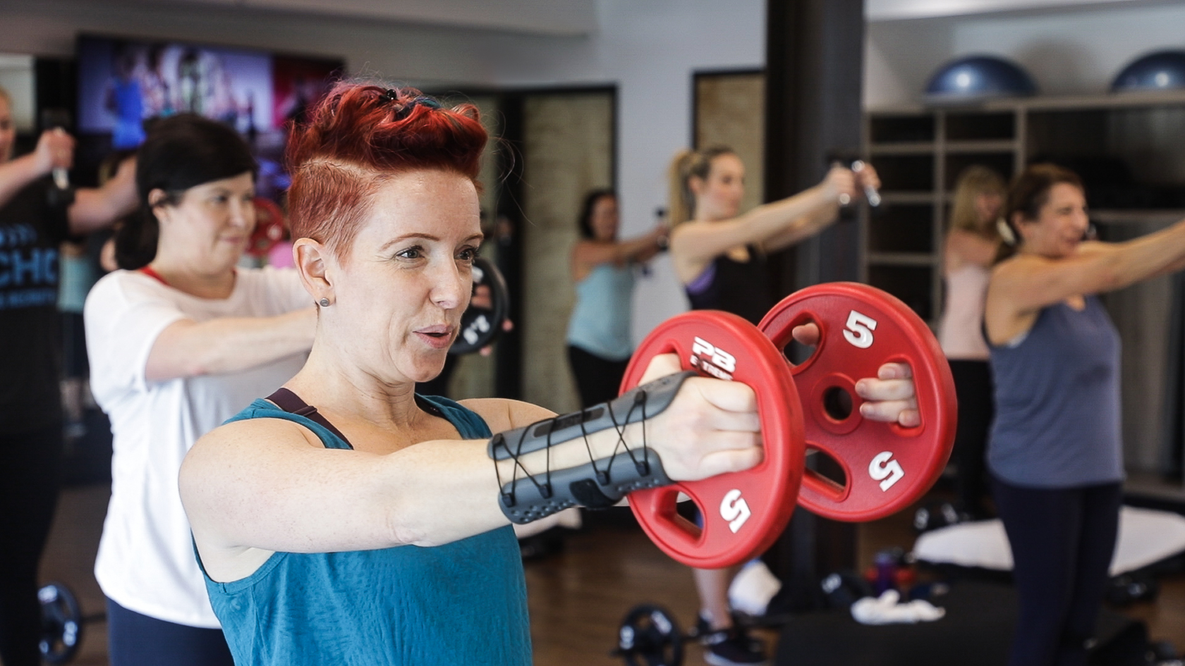 HIIT and Strength woman exercising