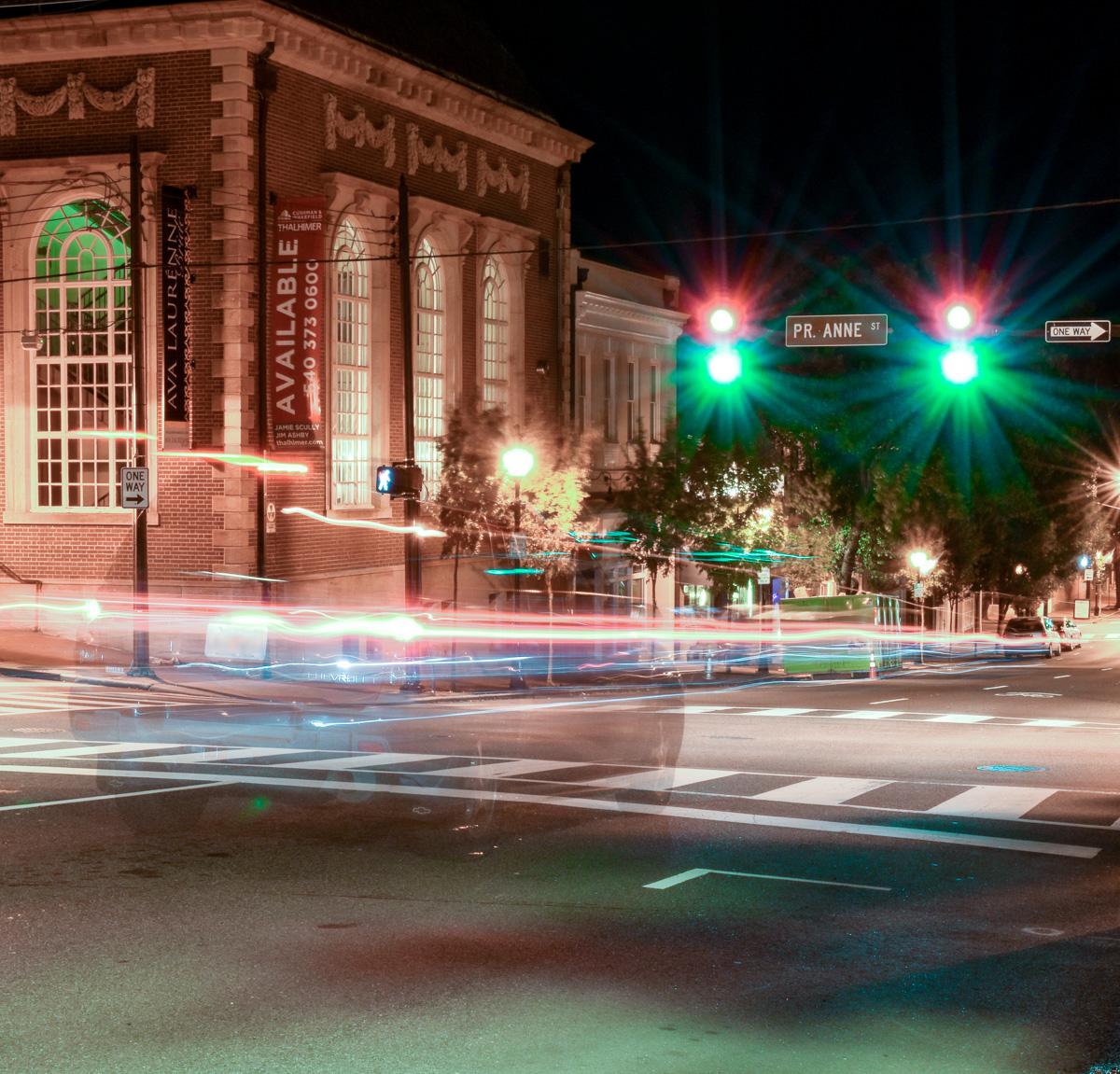 Corner of William and Princess Anne in Downtown Fredericksburg
