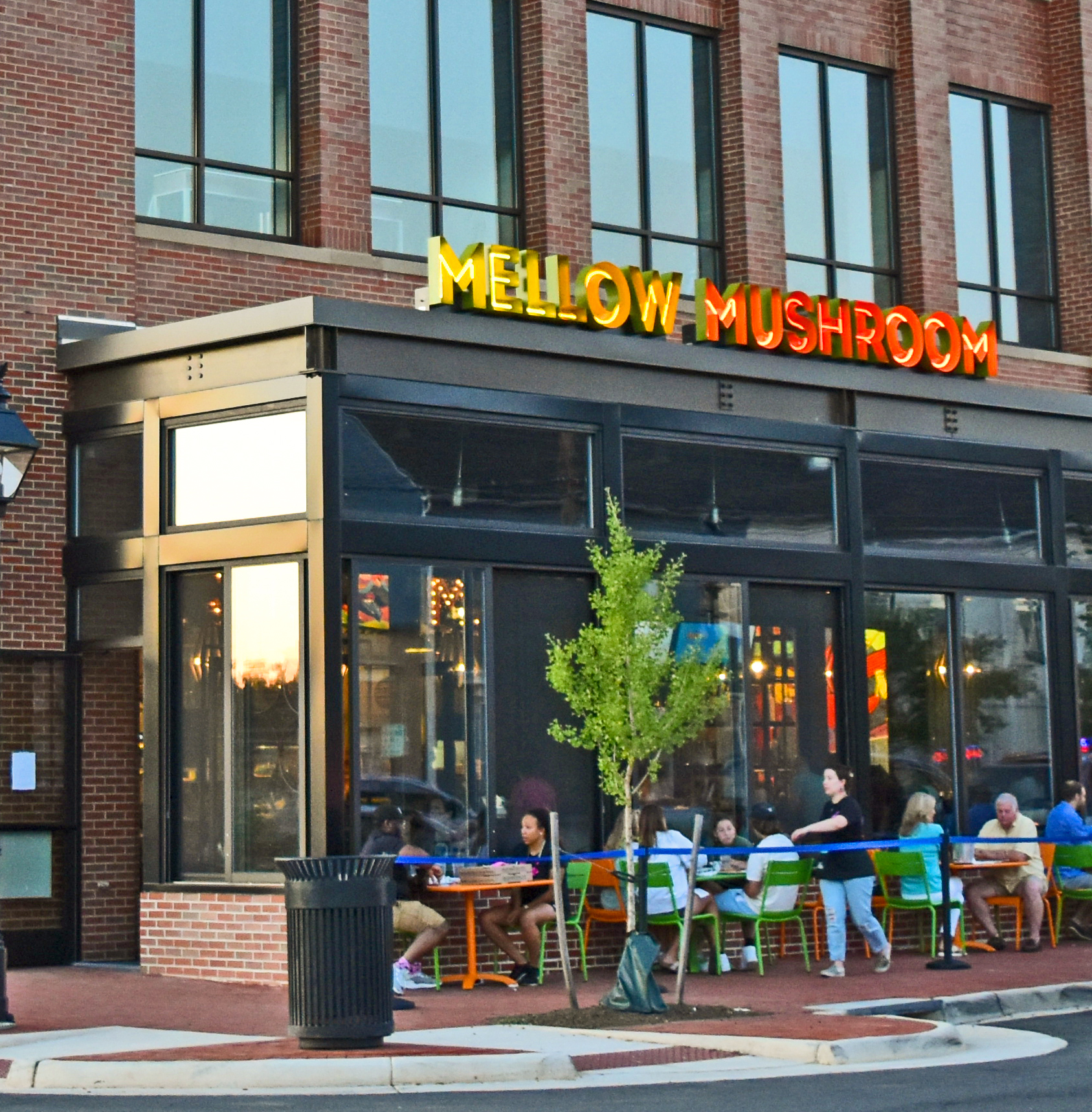The outside of Mellow Mushroom's new location Downtown Fredericksburg