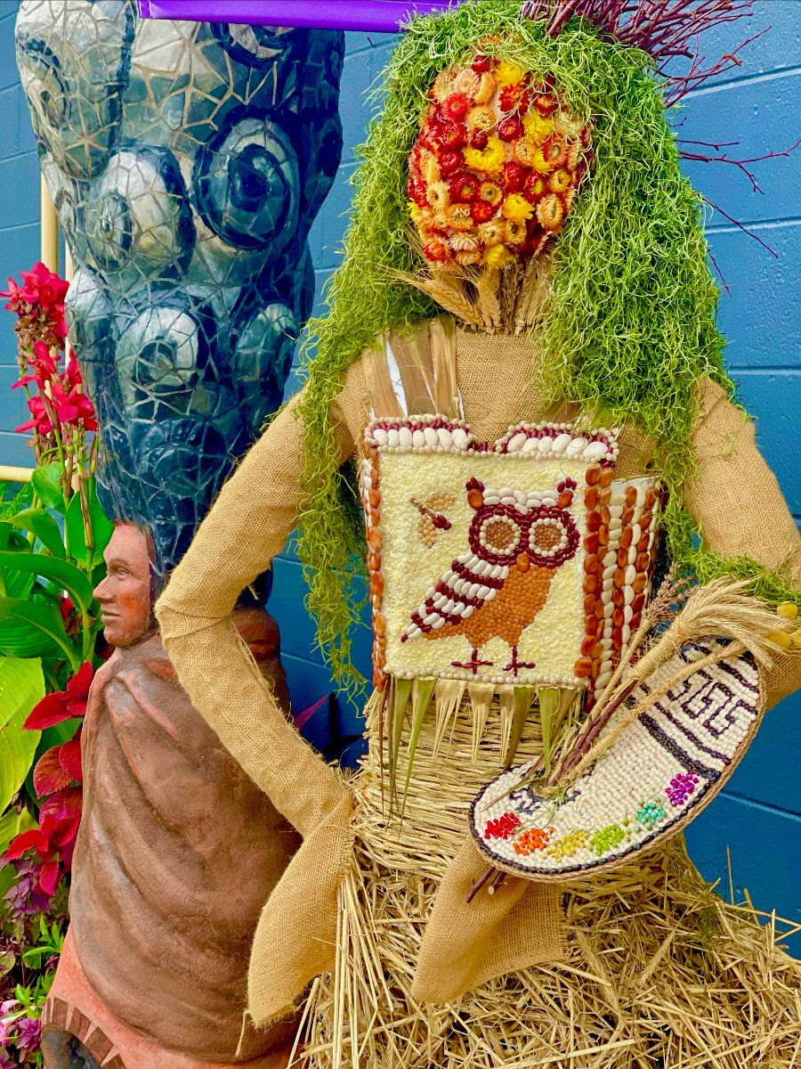The scarecrows are back! This lovely creature is at LibertyTown Arts Workshop