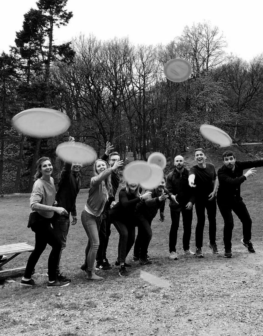 superonsdag teamaktivitet frisbeegolf