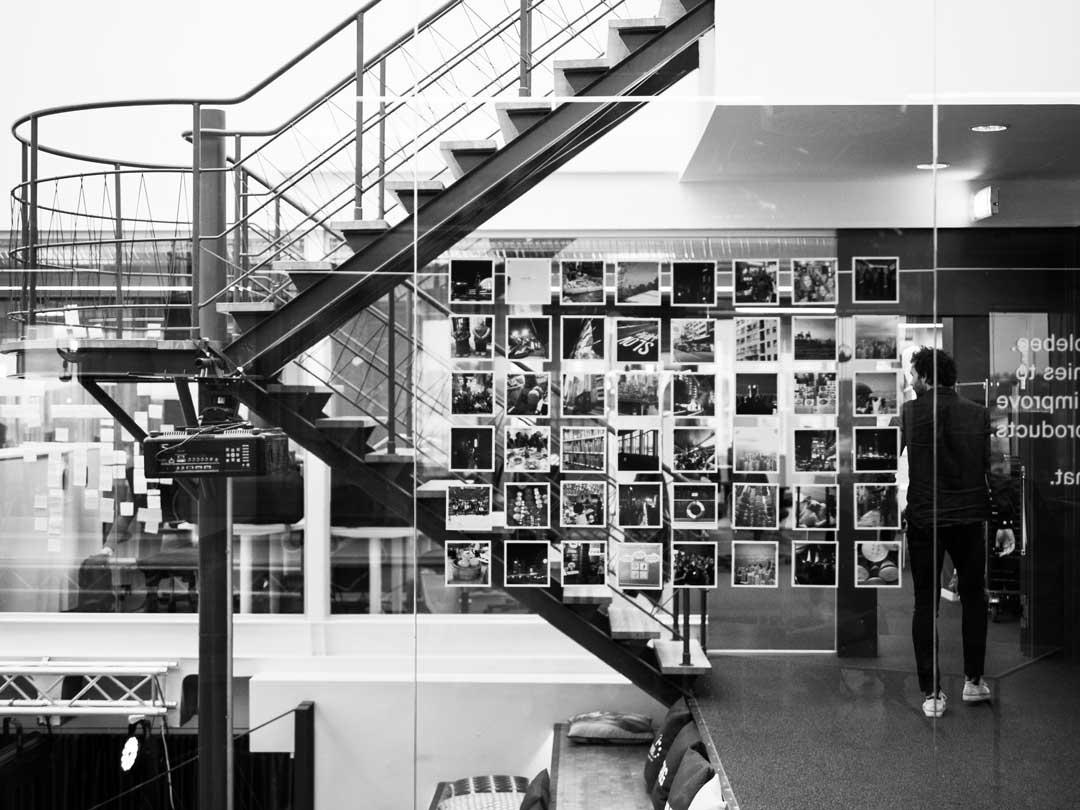 A creative photowall inside our design agency