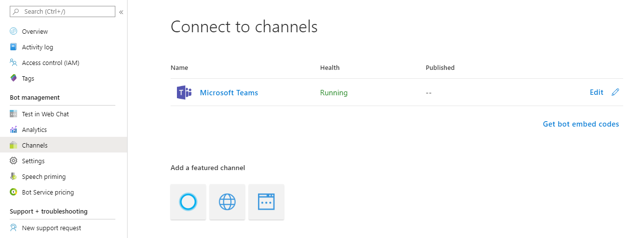 Connect to channels