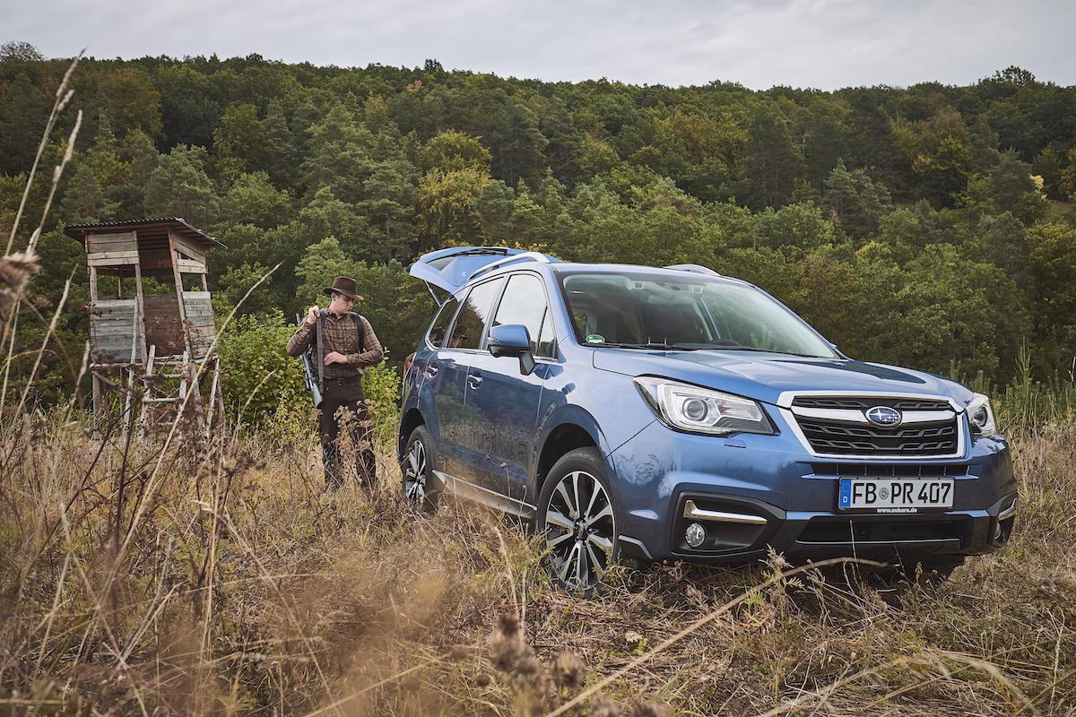 Subaru SUV in a Hunting Field