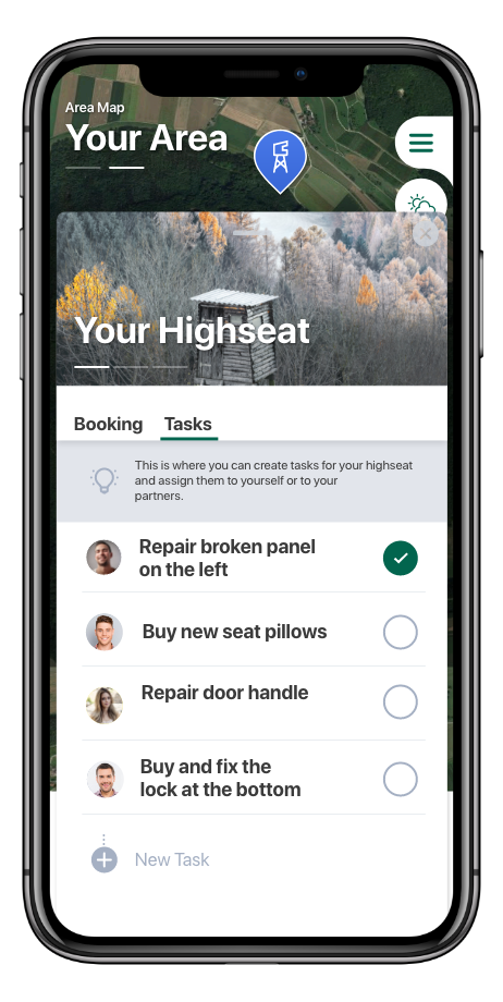 Manage and Book High seats in your hunting area.