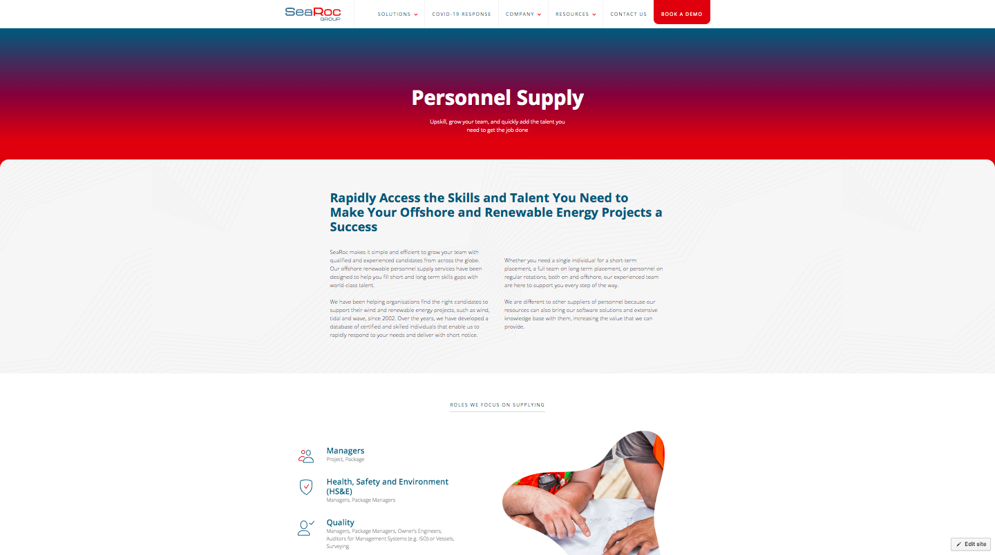 New Personnel Supply Page