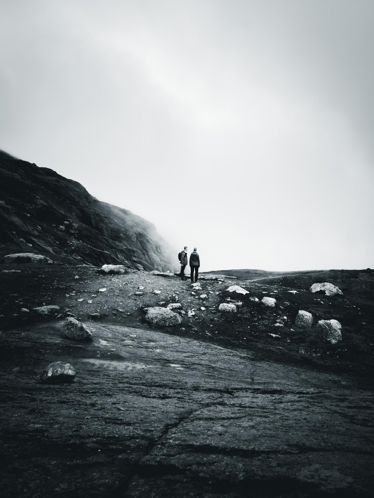 Zwei Wanderer in Norwegen