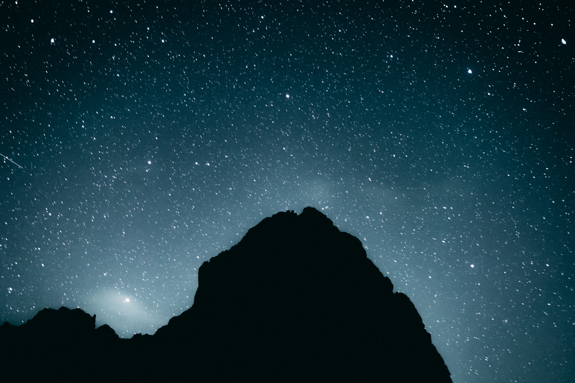 Sternhimmel im Karwendelgebirge Lamsenjochhütte